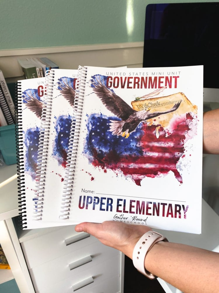 united states government mini unit workbooks from gather round homeschool