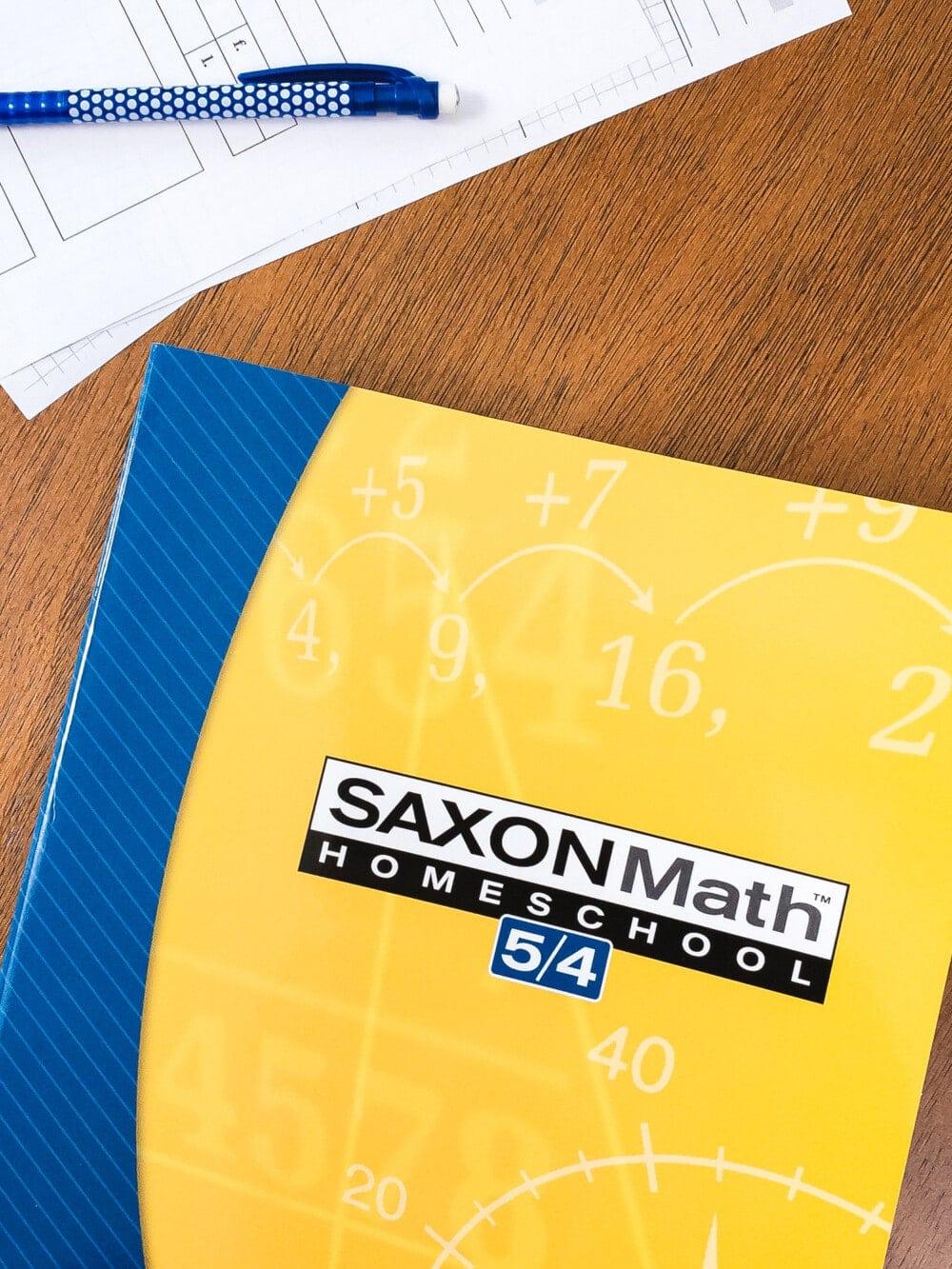 the saxon math 5/4 homeschool curriculum student workbook