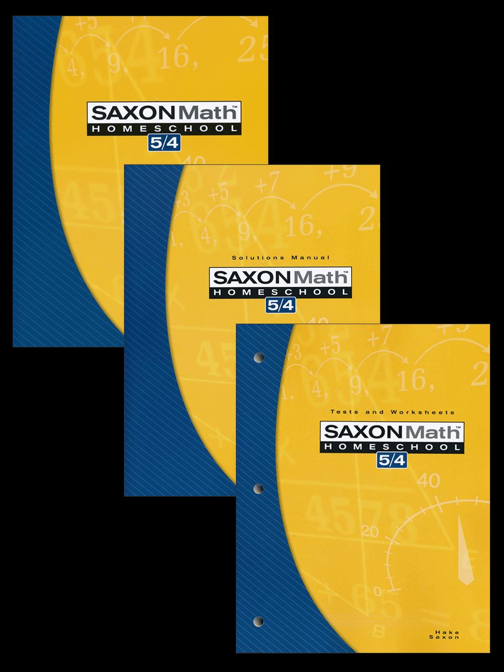 saxon math 5/4 homeschool curriculum kit