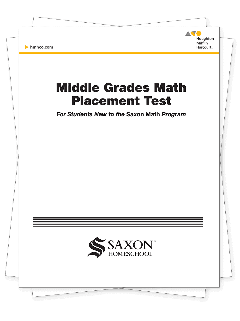 saxon math middle grade math placement test