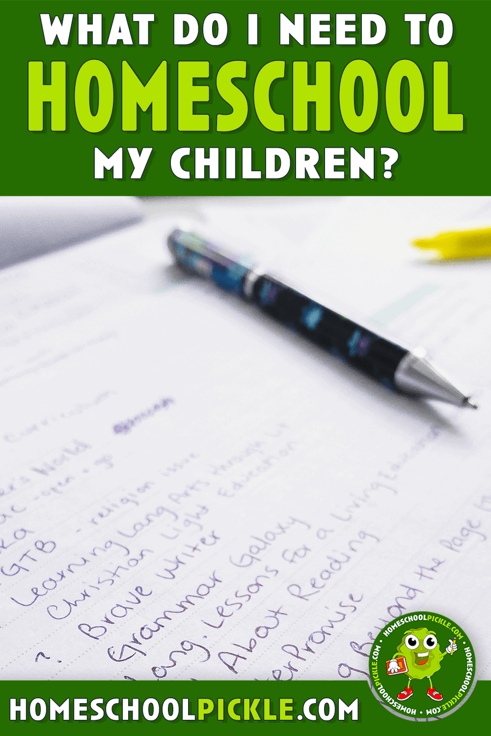 what do I need to homeschool my child